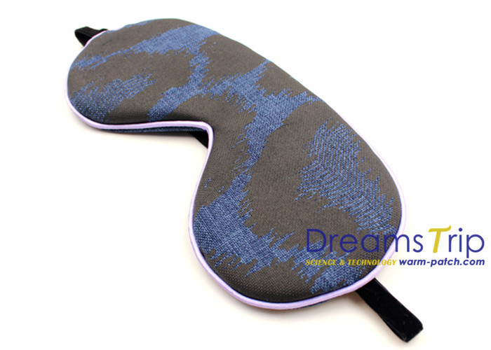 OEM Breathable Linen fabric Eye Mask print ergonomics For Relax Sleep in office
